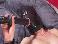 Bondage sex with masks