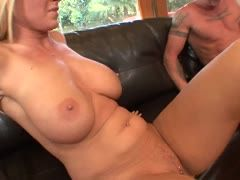 Blondie with hot ass and tits is horny