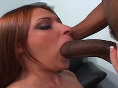 Black cock enjoys a mouth fuck